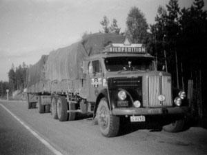 Börge på väg till Sundsvall 1954