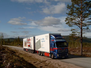 Volvo FH12 i jämtandsfjällen